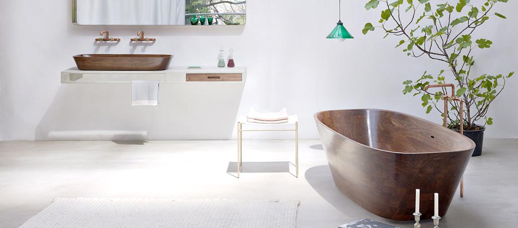 Bild zu Artikel: Holz, Fliesen & Co: Neue Looks für's Bad